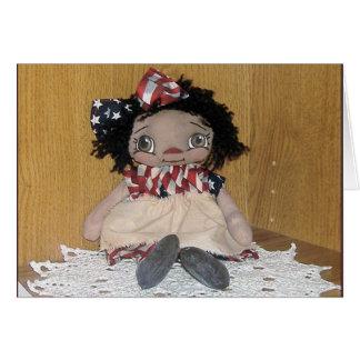 Primitive AA Americana Annie Doll Card