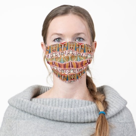 Primitive African Tribal Pattern Adult Cloth Face Mask