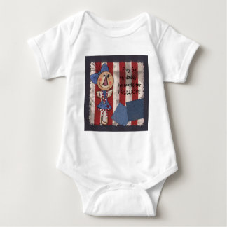 Primitive American Angel Baby Bodysuit