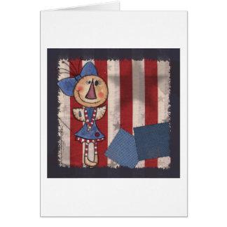 Primitive American Angel Card