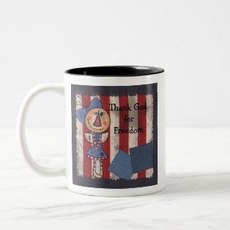 Primitive American Angel Two-Tone Coffee Mug