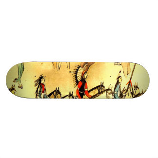 Primitive American Indian Drawings Folk Art Plaque Skateboard Deck