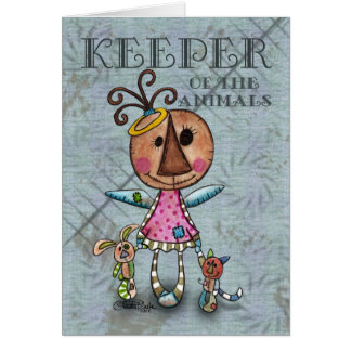 Primitive Angel Keeper of the Animals Card