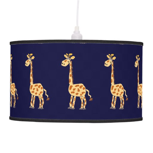 Primitive Art Giraffe Lamps