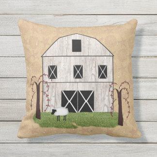 Primitive Barn Outdoor Pillow