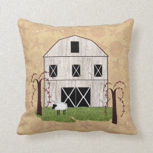 Strange Primitive Barn Throw Pillow Customarchery Wood Chair Design Ideas Customarcherynet
