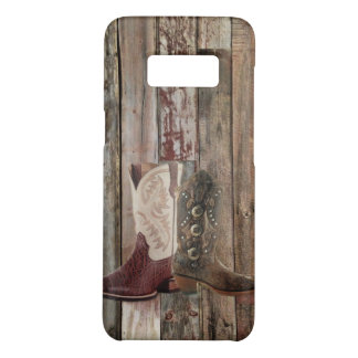 Primitive barn wood country Western Cowboy Boot Case-Mate Samsung Galaxy S8 Case