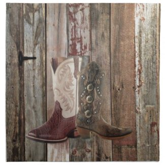 Western Cowboy Boot Cloth Napkin