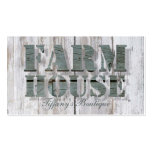primitive barn wood western country farmhouse business card template