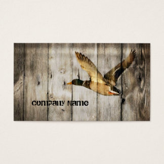 Primitive Barn wood Western Country mallard duck Business Card