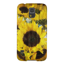 Primitive Barn Wood Western Country Sunflower Galaxy S5 Case