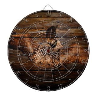 Primitive Barn wood Western Country waterfowl Loon Dartboard
