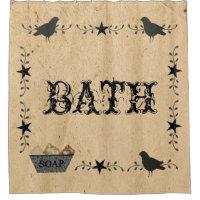 Primitive Bath Shower Curtain
