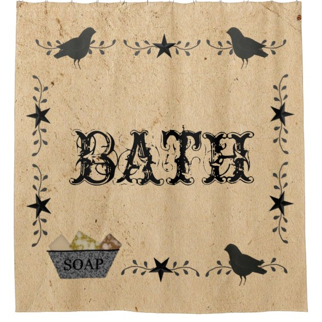 Primitive Bath Shower Curtain Zazzle Com