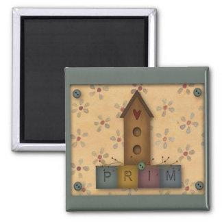 Primitive Birdhouse Magnet