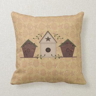 Primitive Birdhouses Pillow