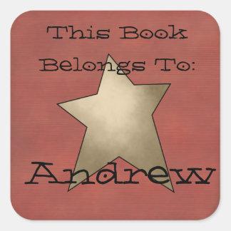 Primitive book plate
