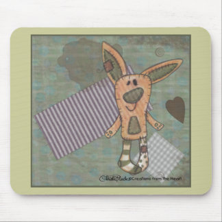 Primitive Bunny Mouse Pad