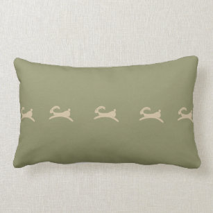 Fine Primitive Bunny Olive Green Lumbar Pillow Customarchery Wood Chair Design Ideas Customarcherynet