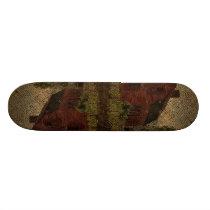 Primitive burlap country farmhouse red barn skateboard deck