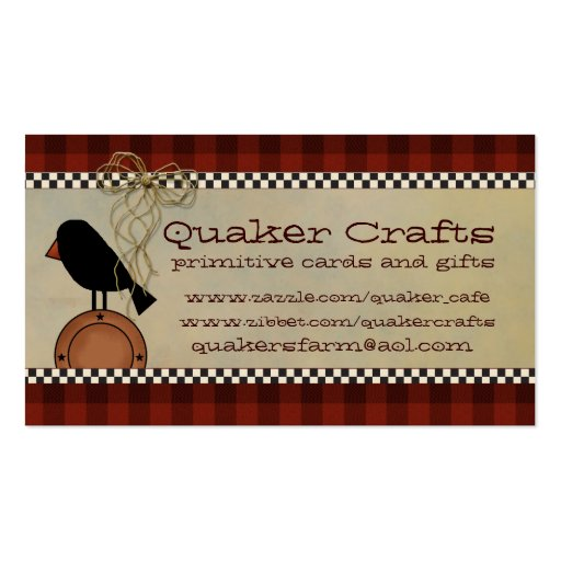 Primitive Business Cards