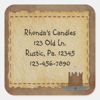 Primitive Candle Sticker