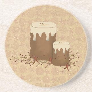 Primitive Candles Coaster