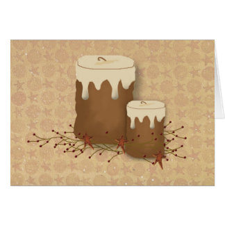 Primitive Candles Note Card