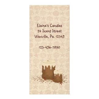 Primitive Candles Rack Card Book Mark