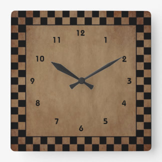Primitive Check Wall Clock