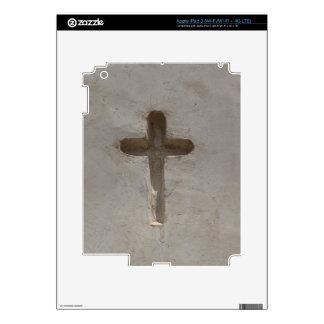 Primitive Christian Cross customize favorite Bible iPad 3 Decals