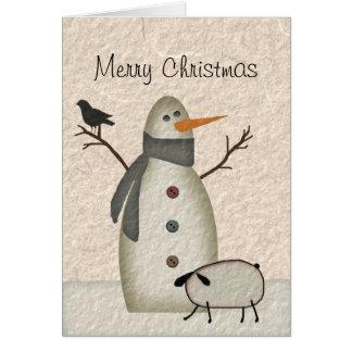 Primitive Christmas Card