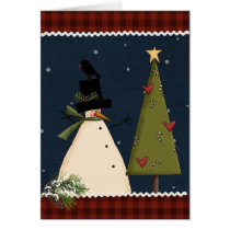 Primitive Christmas Greeting Card