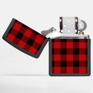 Primitive Christmas Red buffalo Plaid lumberjack Zippo Lighter