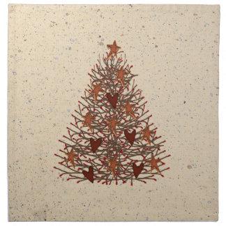 Primitive Christmas Tree Napkin