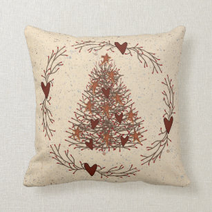 Prime Primitive Christmas Tree Pillow Customarchery Wood Chair Design Ideas Customarcherynet