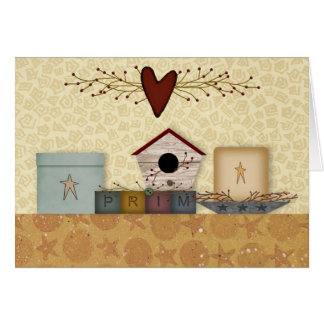 Primitive Collection Note Card
