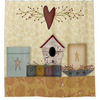 Primitive Collection Shower Curtain