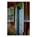 Primitive Country Barn Door Poster