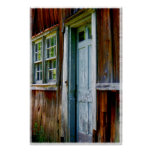 Primitive Country Barn Door Wall Print