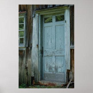 Primitive Country Barn Door Wall Print Poster
