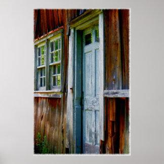 Primitive Country Barn Door Wall Print Print