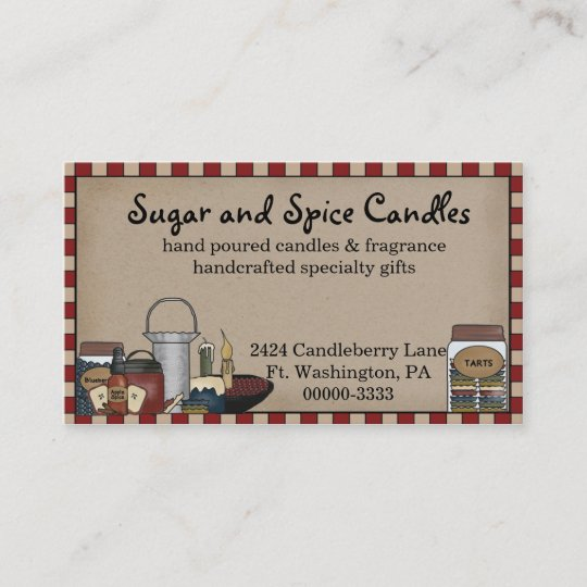 Primitive country candle scents business card zazzle primitive country candle scents business card colourmoves