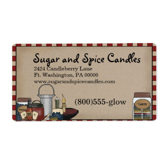 Primitive Country Candle & Scents Shipping Label