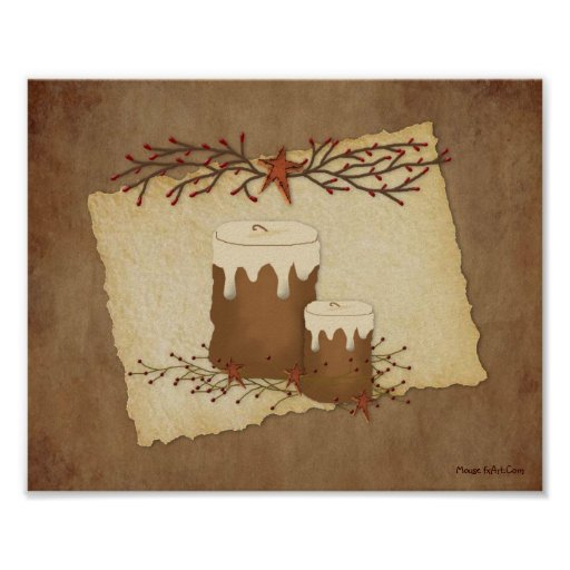 Primitive Country Candles Poster