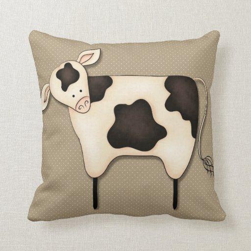 Primitive Country Cow Decor Pillow Zazzle