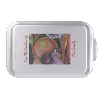 Primitive/Country Design Personalized Cake Pan