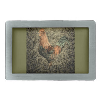 Primitive country farm chicken rustic rooster belt buckle