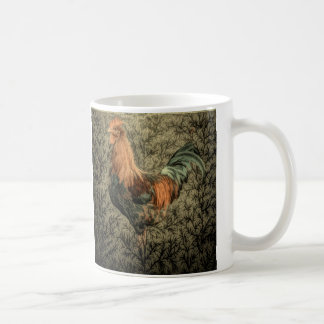 Primitive country farm chicken rustic rooster coffee mug