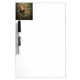 Primitive country farm chicken rustic rooster dry erase board